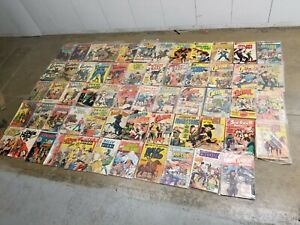 59 Vintage WESTERN Comic Book Lot Cowboy Action Outlaws west Gun fighters Billy