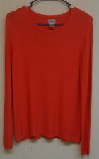 Mint! Women's Chico's LS Sweater, Coral, Size 0.