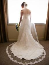 1 Layer Chapel Length Bridal Veil With Lace Edge Wedding Veil Bridal Accessories