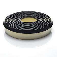 4.2m BLACK WORKTOP SEAL PVC elastic strip trim splashback edging