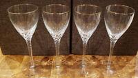 """* Set of 4 * Lenox Crystal ENCORE GOLD -- 8"""" Wine Goblets Goblet Set"""