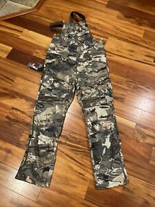 Under Armour Men Storm Mid Season Forest Camo Hunting Bib New Size M