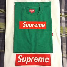 "SUPREME ""S/S POCKET"" TEE (L) (Kelly Green) FW16 Box Logo Hoodie -FREE SHIPPING-"