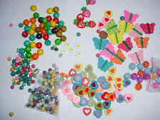 NEW, Wooden & Acrylic Beads & Childrens Butterfly Pendants