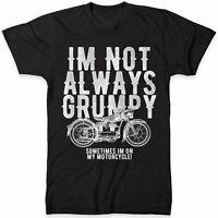 Motorcycle T Shirt Men Im Not Always Grumpy Grandpa Dad Funny Biker Gift Tshirt