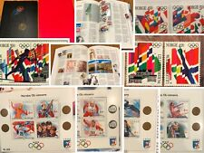 Norway Post Lillehammer Olympic Book 1994 MNH Complete as Issued Series & Blocks