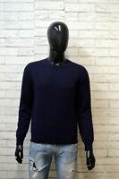 Maglione in Cashmere Uomo DONDUP Taglia S Sweater Cardigan Blu Pullover Felpa