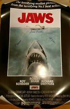 Susan Backlinie Signed Jaws Movie Poster 24x36 Insc First Victim/Chrissie Jsa