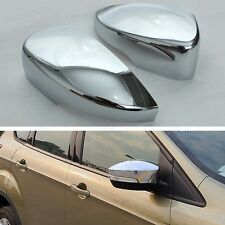 2 x Chrome Side Mirror Caps Covers Set Trim Molding for Ford Ecosport 2013 2014