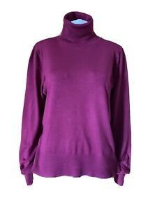 Basque-Roll Neck Sweater-Size 16