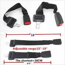 """Car Adjustable Seat Belt Buckle Click-In Extender: 15""""-19"""" Black-E4 For Chrysler"""