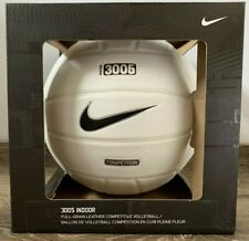 Nike 3005 NFHS Indoor Full-Grain Leather Competitive Volleyball White BRAND NEW