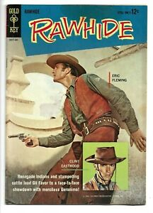 Rawhide #2, Gold Key, 1963, Clint Eastwood, Eric Fleming TV, Silver Age, 8.5 VF+