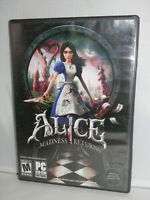 Alice Madness Returns (PC, 2011) EA PC Game DVD-ROM Very Good Condition