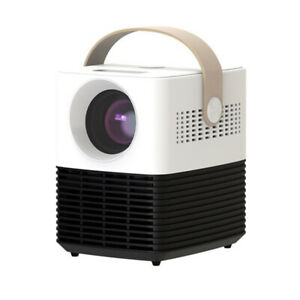 Portable Mini Projector Support 1080p 120 Inch Screen 50000 Hrs Lamp Life White