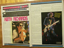 The Rolling Stones, Keith Richards, Two Page Vintage Clipping