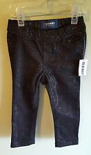 Old Navy Girls 18-24 MONTHS Black Sparkle Jeggings STRETCH WAIST Jeans   #208517