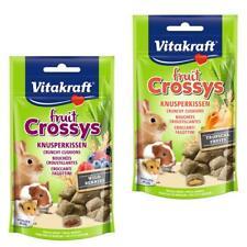 Vitakraft FRUIT CROSSYS Crunchy Bites Small Animal Rodent Rabbit Hamster Treats