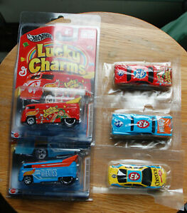 Hot Wheels Cereal Crunchers Series 3 Cars & 2 VW buses  LOOK