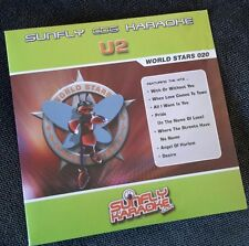Karaoke CDG disc SFWS020 Sunfly World Stars, U2, see Description of 14 tracks
