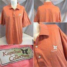 Kapalua Collection Polo Golf Shirt XXL Orange Cotton India EUC YGI K8-697