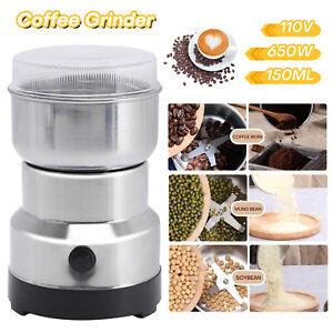 Portable Electric Coffee Grinder Bean Nut Grind Spice Crusher Mill Blender Cafe