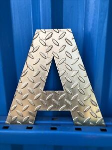 """A 12"""" Metal Rusty gold Steel Letter Sign Shop Rustic Classic Industrial Home"""