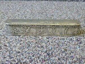 Antique Silver Trinket / Tobacco box Hallmarked London 1900