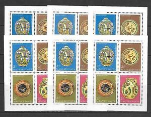 Hungary -  Six (6) 1968 41st Stampday MNH - SS's