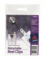 """6 packs of Avery 74455 Retractable Reel Clips (12 Reels - Extends to 30"""") **NEW*"""