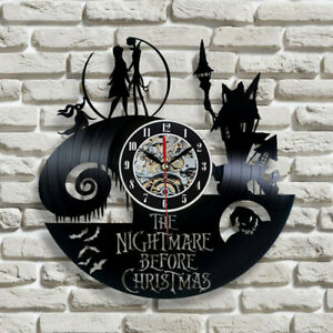 Retro Collectible Gifts Vinyl Record Wall Clocks The Nightmare Before Christmas