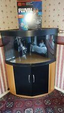 Juwel 190L aquarium corner Fish tank Black with Fluval 306 External Filter Used