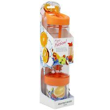 Summit 750ml Fruit Juice Infusing Infuser Water Bottle Drinks Tumbler Orange