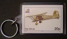 Regia Aeronautica FIAT CR.42 FALCO Biplane Fighter WWII Aircraft Stamp Keyring
