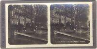 Inundación París 1910 Estéreo Stereoview Vintage Analógica