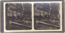 Inondation Paris 1910 STEREO Stereoview Vintage argentique