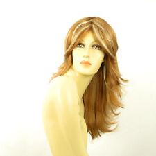 Perruque femme longue blond foncé méché blond clair ZOE F27613