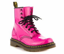 NEW Dr. Martens Womens 1460 8 Eye Hot Pink Patent Leather Boots Size 9 UK 11 US