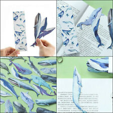 30pc Cute Kawaii Paper Bookmark Fish Whale Dolphin Japanese Book Marks Art