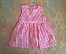 3d2312c9ae5e Girls Infants Pink Checked Dress Cutey Couture Baby Girls Clothes 3-6 Months