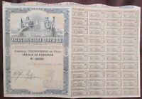 1926 Islas Del Guadalquivir S.A, Bond w/coupons, Shares Certificate