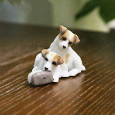 Resin MINI Jack Russell Terrier dog Hand Painted simulation model Statue  s963
