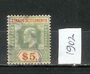 STRAITS   SETTLEMENTS     EDUARD   VII     1902   FIVE   DOLLAR   $5