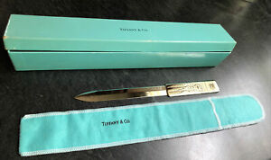 Tiffany & Co. Vintage 80's Silver Plate Ostrich / Emu Letter Opener in Box
