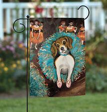 NEW Toland - Dogas Beagle - Puppy Dog Portrait Garden Flag