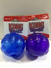 New Kong Squeezz Balls Lot Of 2 Blue And Purple Size Medium