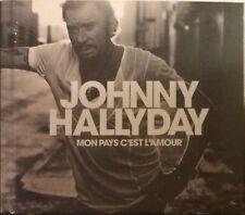 CD-Livre Johnny Hallyday Mon Pays C'est L'Amour - NEUF/Blister