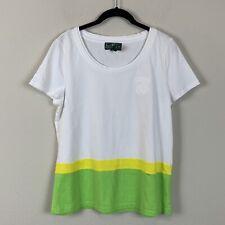 L-RL Lauren Active Ralph Lauren Scoop Neck Short Sleeve Shirt Women's size XL