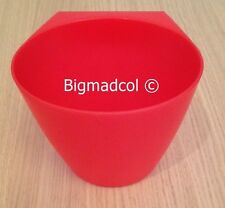 Ikea Bygel Plastic Storage Pots Container holder for rail New Translucent RED