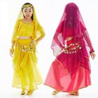 KID's Blouse Skirts Belt Head scarf 5pcs set Belly Dance Costume Dancewear NEW